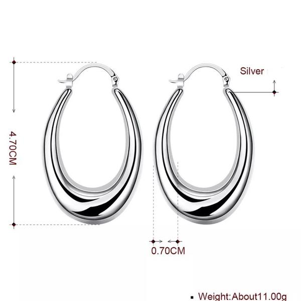 925 Sterling Silver Hoop Earrings by Kitty Kat - Stranger.Things.Emporium, Earrings