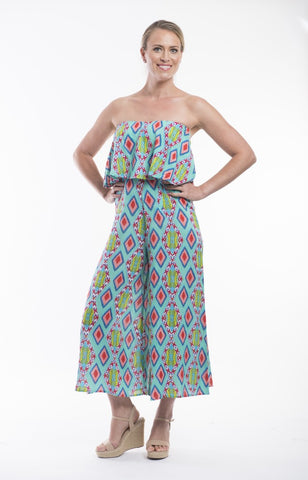 Lombardy Printed Cotton Pantsuit - Orientique - Stranger.Things.Emporium, Clothing (Womens) - New