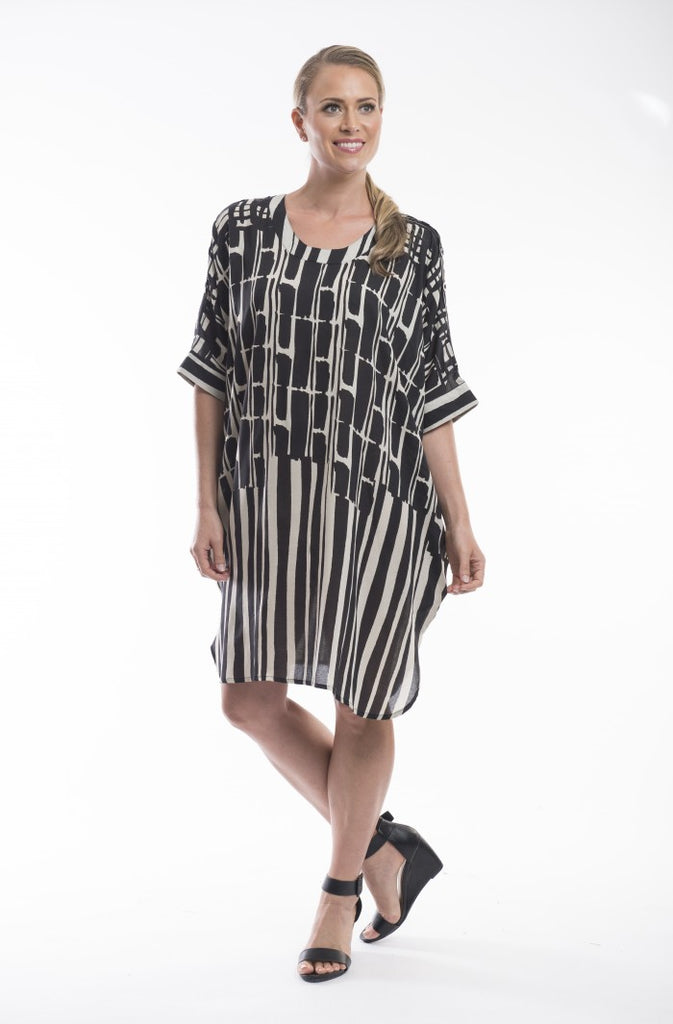 Syahi Printed Overlay Tunic Dress - Orientique - Stranger.Things.Emporium, Clothing (Womens) - New