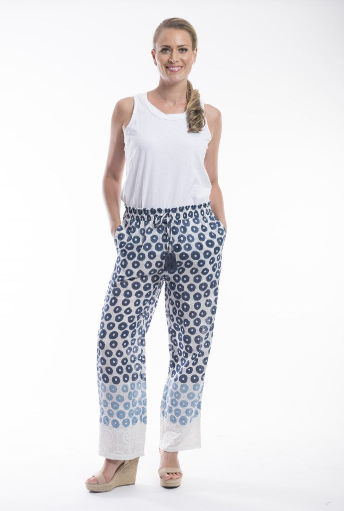 Organic Cotton Gauze Pant - Orientique - Stranger.Things.Emporium, Clothing (Womens) - New