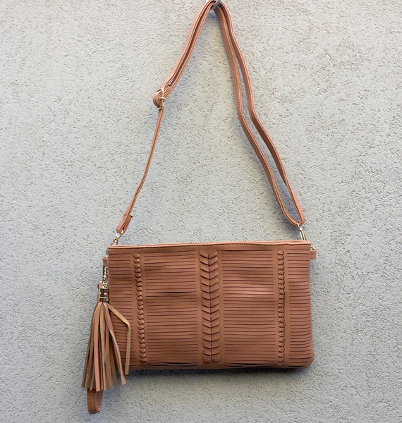 Harper Vegan Leather Slashed Clutch Bag - Stranger.Things.Emporium, Bags & Accessories (New)