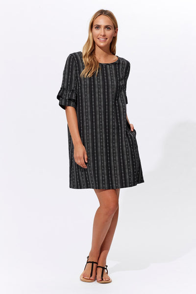 Anais Linen Blend Black Dress - Isle Of Mine - Stranger.Things.Emporium, Clothing (Womens) - New