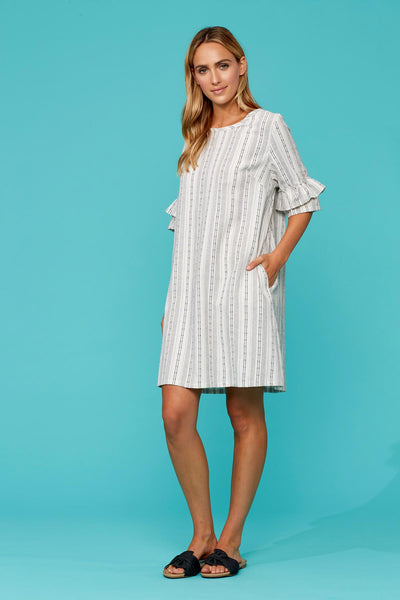 Anais Linen Blend White Dress - Isle Of Mine - Stranger.Things.Emporium, Clothing (Womens) - New