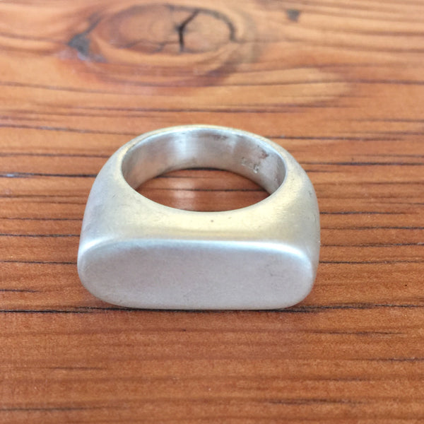 Sterling Silver Rectangular Signet Ring (State of Sonder) - Stranger.Things.Emporium, Jewellery