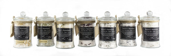 Mineral Bath Salts in Jar with Scoop 650g (Nature's Intentions) - Stranger.Things.Emporium, Bath & Beauty Products