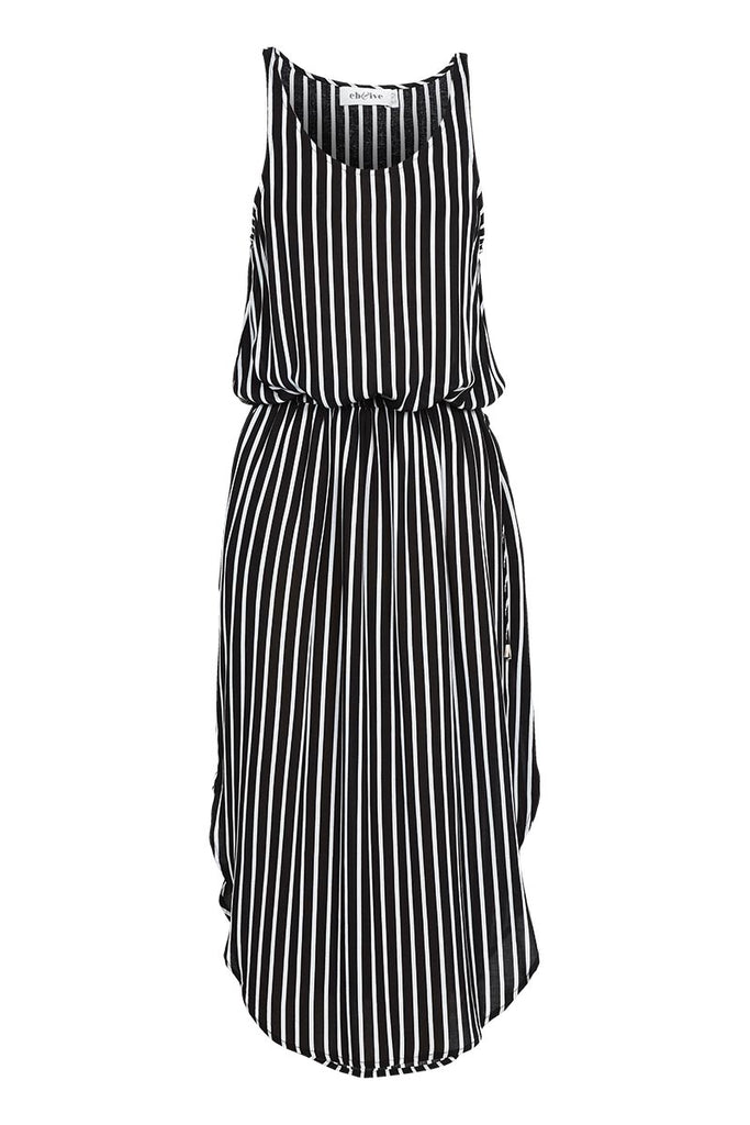 Ines Black White Tie Dress - Eb & Ive - Stranger.Things.Emporium, Clothing (Womens) - New