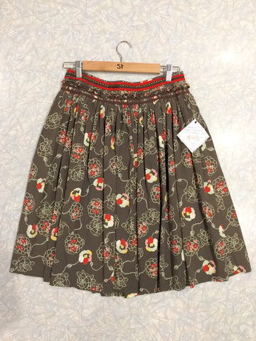 Veronica Maine Floral Gathered Vintage Style Skirt (Past Lives #10246) - Stranger.Things.Emporium, Clothing (Womens) - Vintage & Preloved