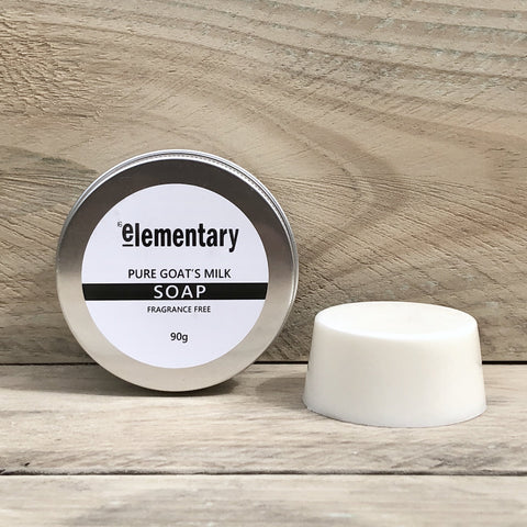 SOAP | Goat's Milk Gentle Cleansing Bar (Fragrance Free) - Elementary Skin Care - Stranger.Things.Emporium, Bath & Beauty Products