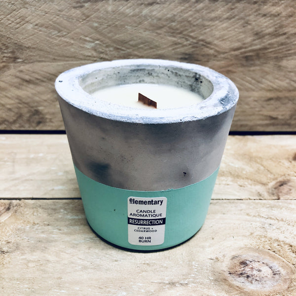 CANDLE AROMATIQUE | Handmade Concrete Vessel (Limited Edition) - Stranger.Things.Emporium, Candles & Room Diffusers