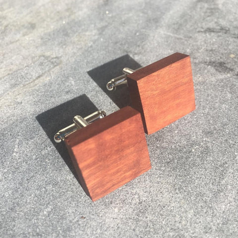 Wooden Cuff Links by Wooden Tie Guy - Stranger.Things.Emporium, Clothing (Mens) - New