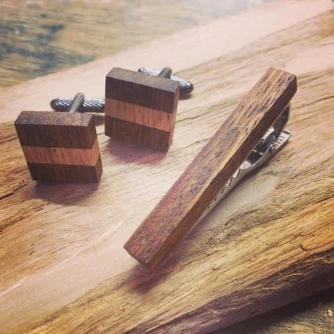 Wooden Tie Bars by Wooden Tie Guy - Stranger.Things.Emporium, Clothing (Mens) - New