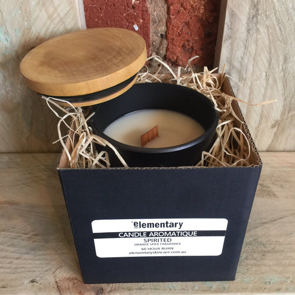 CANDLE AROMATIQUE | Glass Vessel with Timber Lid - Stranger.Things.Emporium, Candles & Room Diffusers
