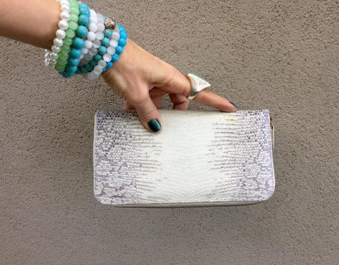 """Zoe"" Exotic Lizard Skin Wallet (Kitty Kat) - Stranger.Things.Emporium, Bags & Accessories (New)"