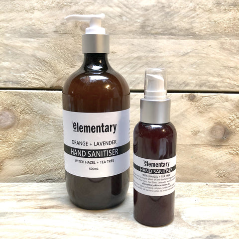 HAND SANITISER | Witch Hazel with Tea Tree + Lavender - Elementary Skin Care - Stranger.Things.Emporium, Hand Sanitiser
