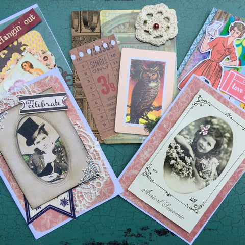 Handmade Gift Cards - Unique Vintage & Retro Styles (Little Pieces of Joy) - Stranger.Things.Emporium, Gift Cards