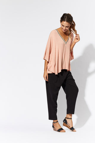 Santa Maria Blush V Top - Eb & Ive - Stranger.Things.Emporium, Clothing (Womens) - New