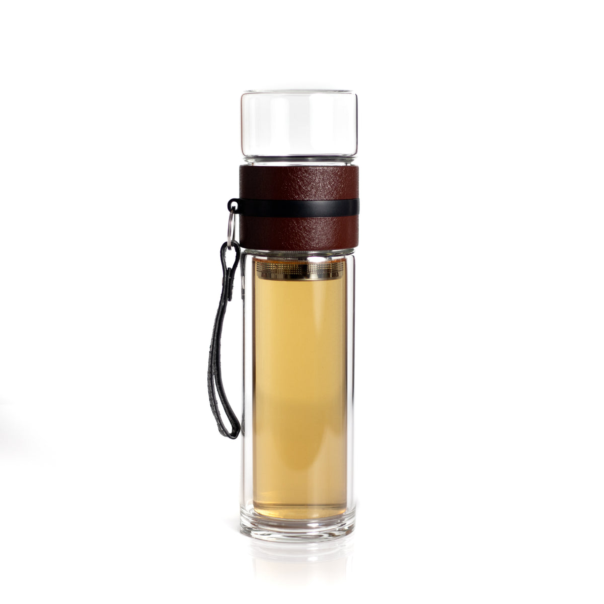 Glass Tea and Water Separation Bottle with Tea Infuser