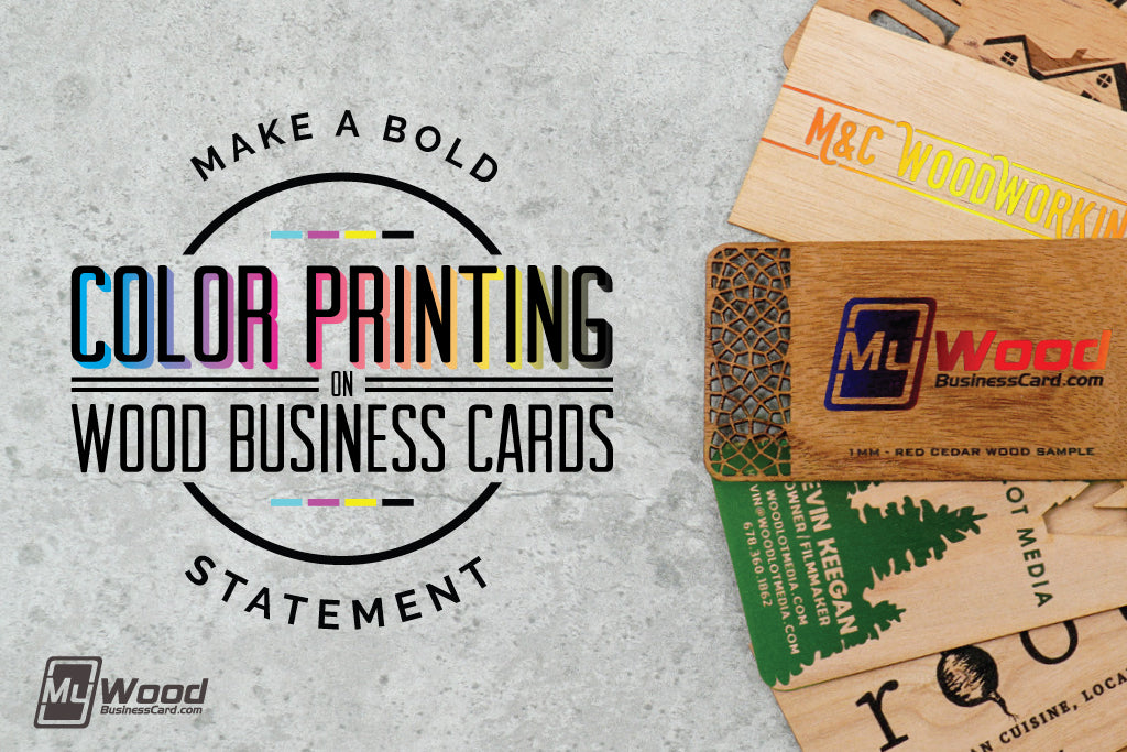 Color Printing on Wood Business Cards