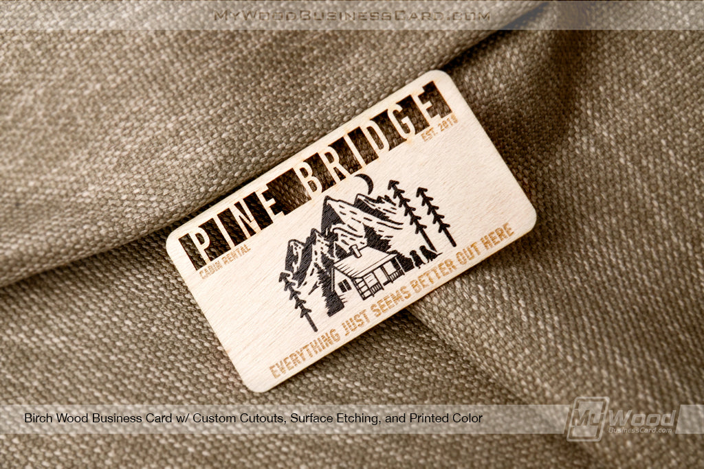 Birch Wood Business Cards