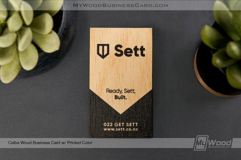 Ceiba Wood Business Cards
