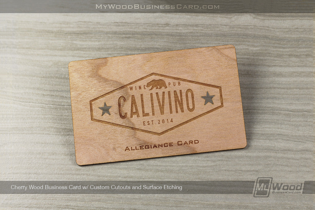 Cherry Wood Business Cards | My Wood Business Card