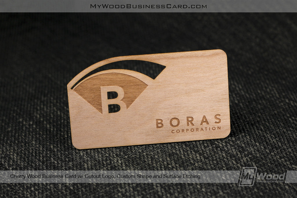 Cherry Wood Business Cards My Wood Business Card