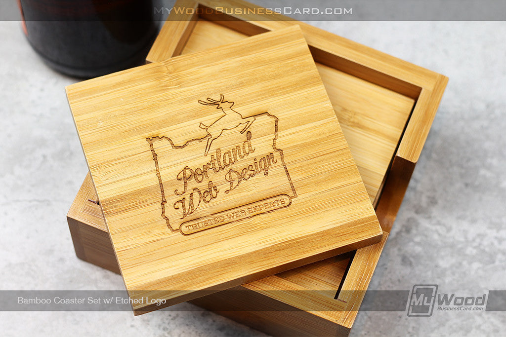 Bamboo Coaster Set