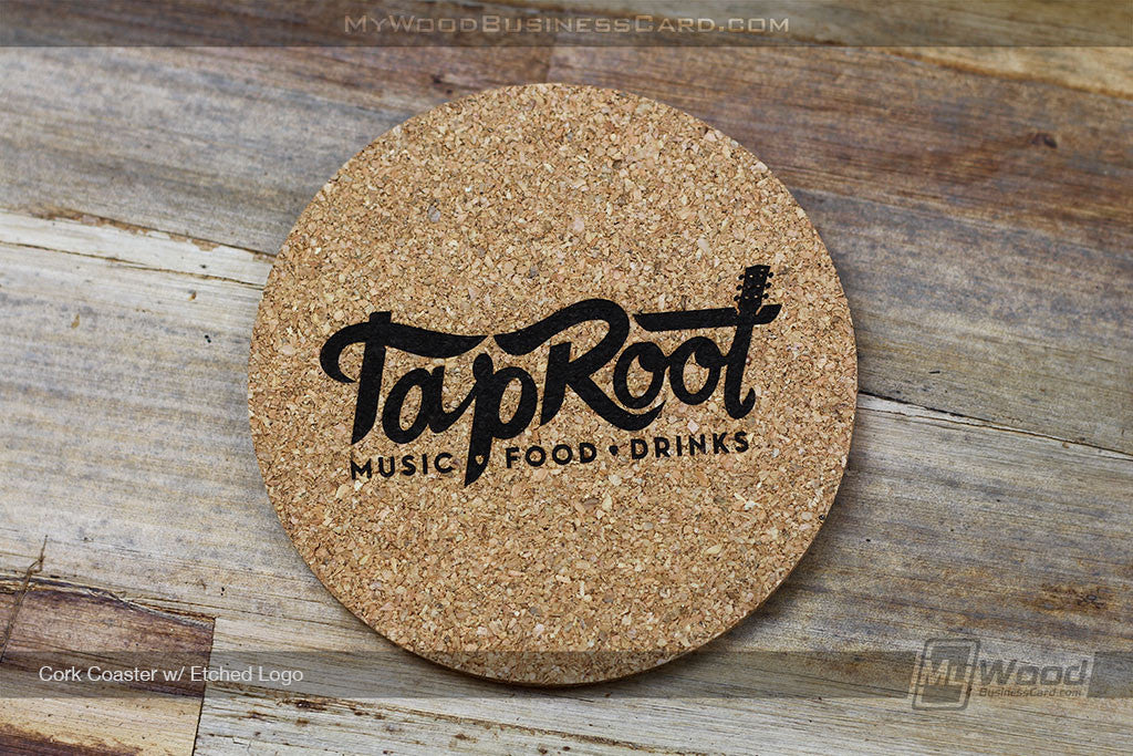 Cork Coasters | My Wood Business Card