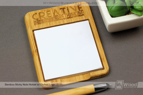 Wood Sticky Note Holders