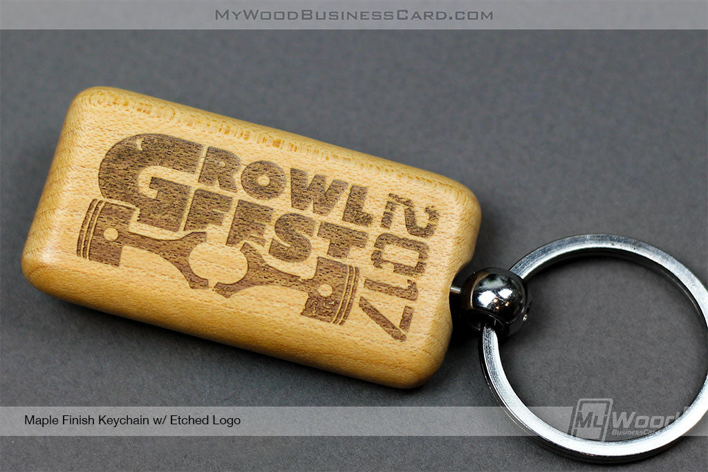 Wood Keychains | My Wood Business Card