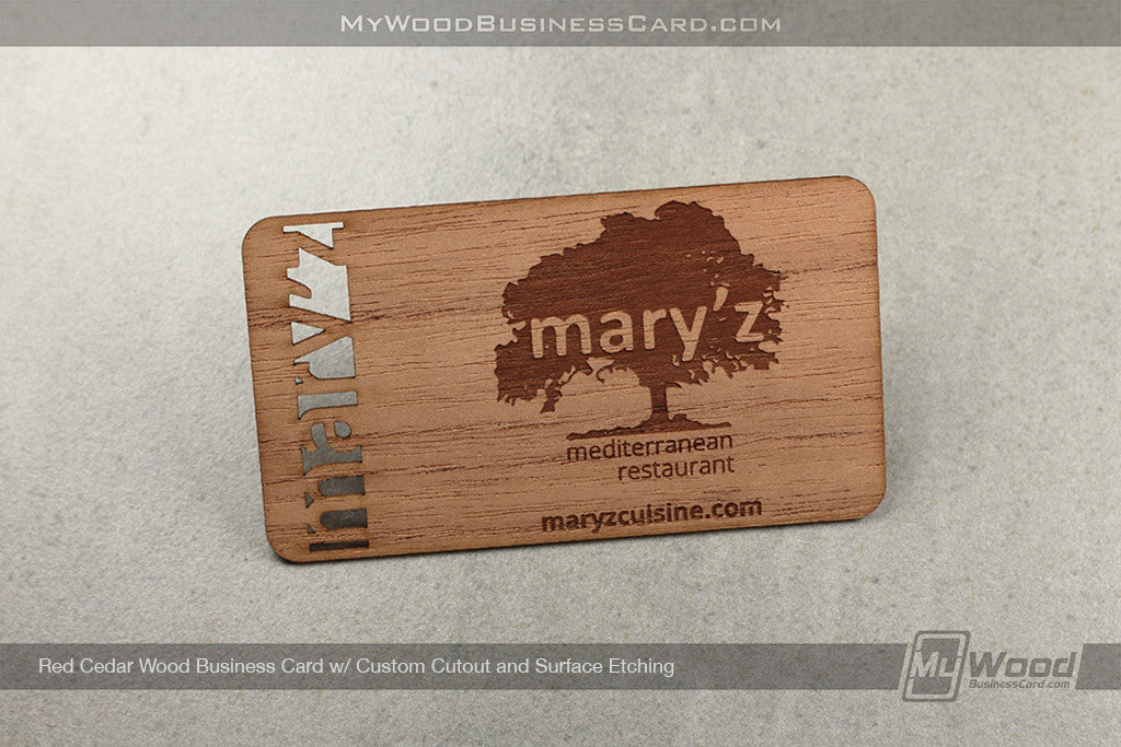 Red Cedar Wood Business Cards
