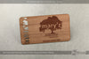 Image of Red Cedar Wood Business Cards
