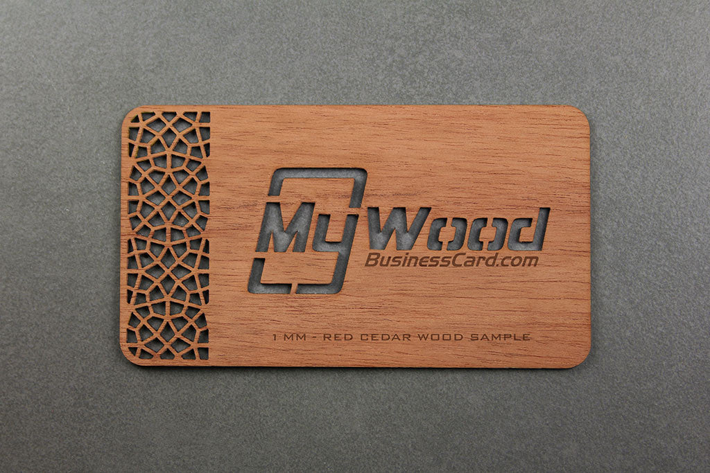 Red cedar wood business cards my wood business card colourmoves