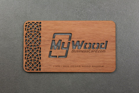 My Wood Business Card Laser Cut Wood Free Shipping