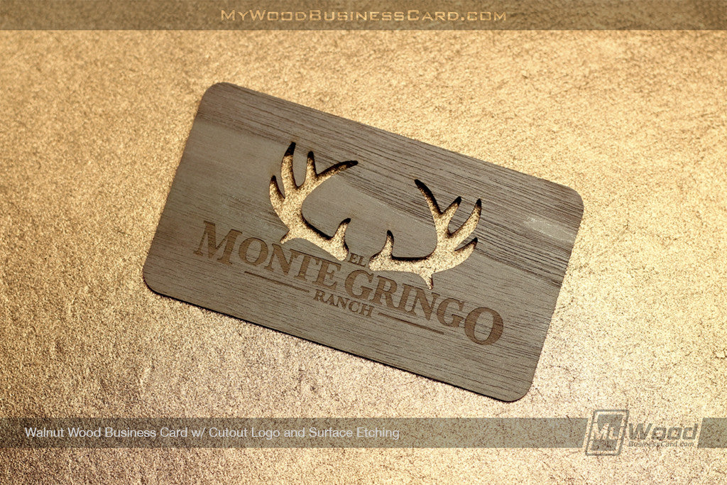 Walnut Wood Business Cards | My Wood Business Card