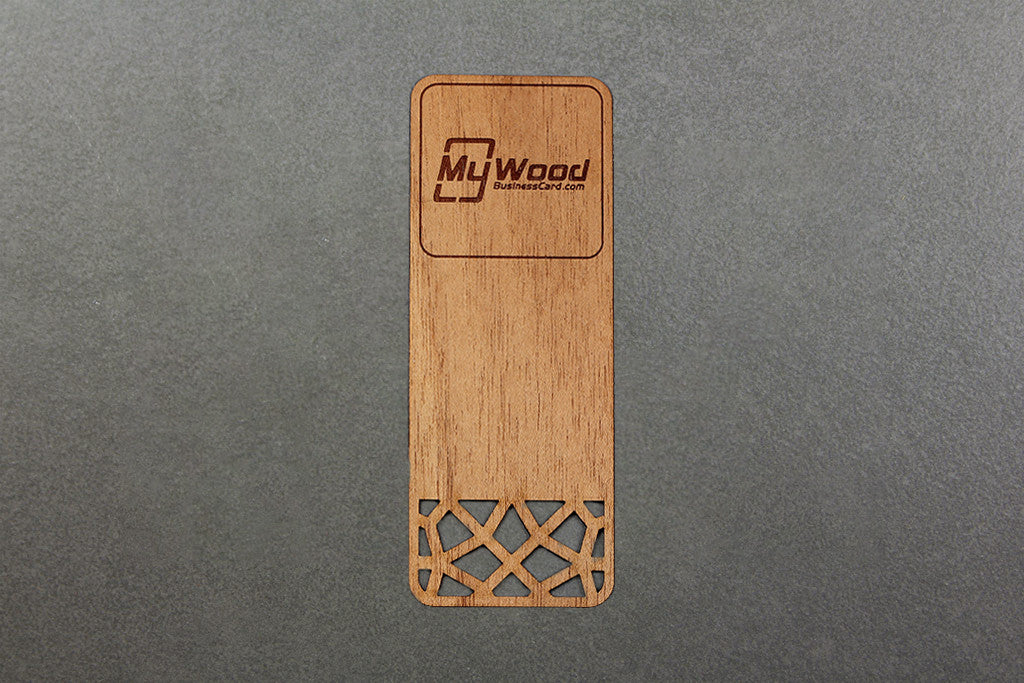 Wood Bookmarks | My Wood Business Card