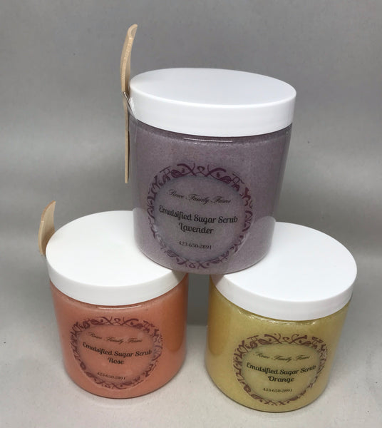 Emulsified Tallow Sugar Scrub