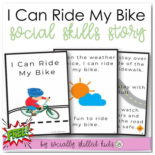 I Can Ride My Bike | Social Skills Story | Freebie