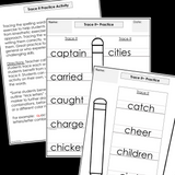 Modified Spelling Activities || Featuring 'c' Words || 4th Grade
