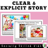SOCIAL STORY SKILL BUILDER: I Am Going To A Birthday Party!