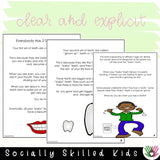 Social Skills Stories And Activities | Pack 4 | Body Awareness | For K-5th