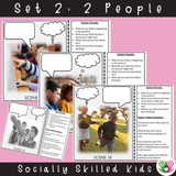 Perspective Taking Photo Activity Cards | Pack 1 |What Are They Thinking? & What Are They Saying?