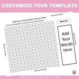 Word Search Templates | EDITABLE | Freebie
