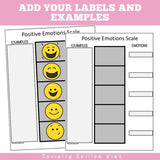 Positive Emotions Scales | Freebie