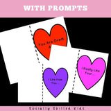Valentine's Day Compliment Hearts Craftivity | Freebie