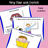 I Can Stop Blurting | SOCIAL Skills Story & Activities | For Boys and Girls, Pre-K