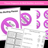 I Can Stop Blurting || SOCIAL STORY SKILL BUILDER || For Girls || K-2nd