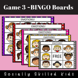 Emotions BINGO | 3x3 Easy Play Differentiated BINGO Boards