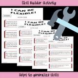 Social Skills Story And Activities | I Can Be Flexible | 3rd-5th Grade or Ability