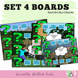 """WH"" Question Activity Boards 